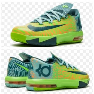 NIKE KD 6 GS Liger Basketball Sneakers Size 8.5